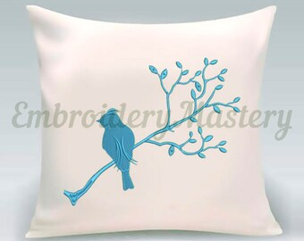 BIRD machine embroidery design - Machine embroidery pattern - Summer embroidery design - little bird / INSTANT DOWNLOAD. 3 sizes