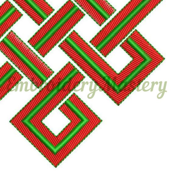 Eternal Knot Embroidery Endless Knot Embroidery Buddhism Etsy