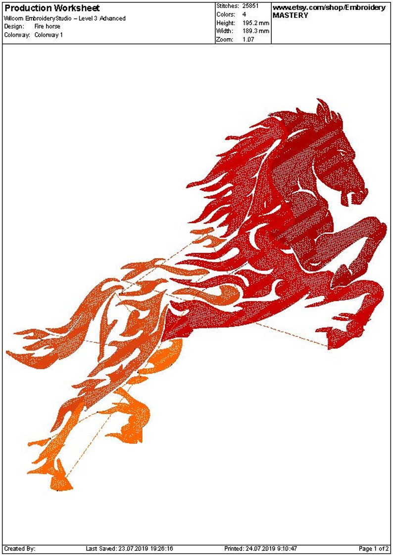 Instant download 5 sizes Tribal embroidery Animal design Fire embroidery Fire Horse machine embroidery design