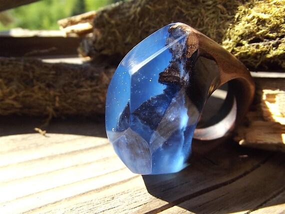 Liefde Walnoot Hout : Houten epoxy ring walnoot womens houten ring blauwe epoxy etsy