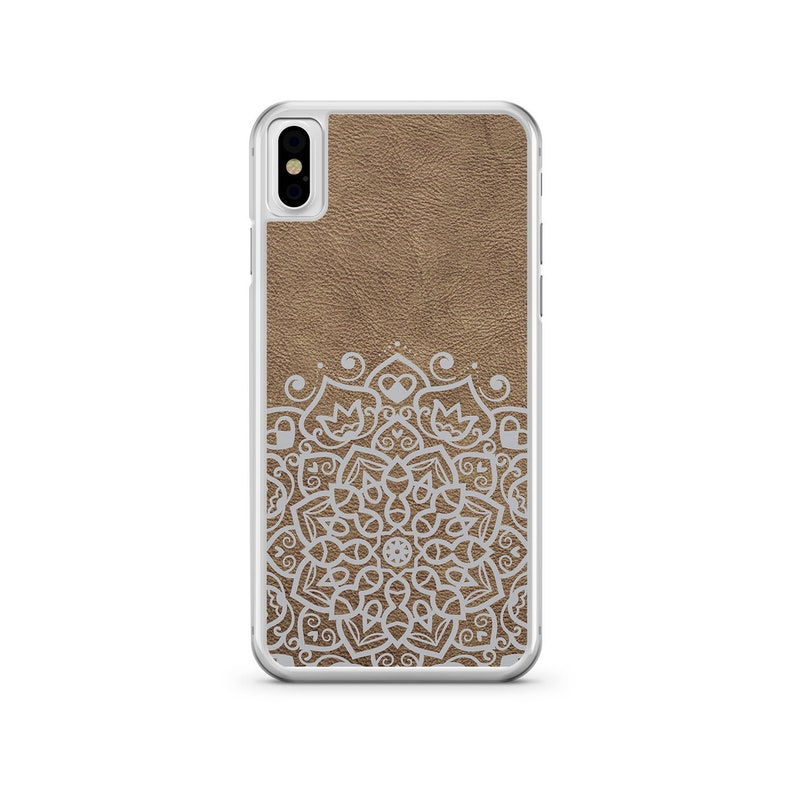 promo code 43a7b aad6c Leather Phone Case Mandala Phone Case Brown Phone Case Brown Faux Leather  Phone Case Mandala iPhone Case Mandala Case for Samsung Leather