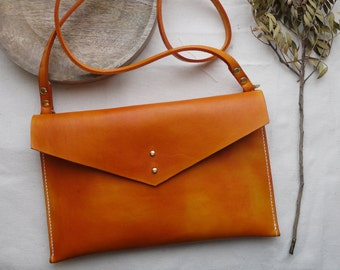 Tan Leather cross body handbag