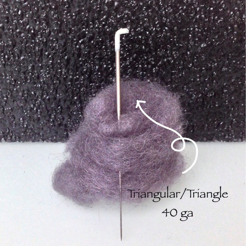 Triangular felt needle Triangle felting needles 40g needle image 0