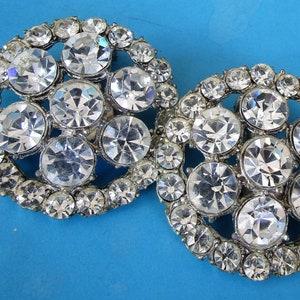 Sparkling 1950/'s AB Diamente Dangle Brooch