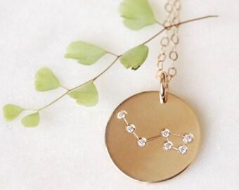 Ursa Major Necklace, Big Dipper Pendant, Constellation Necklace, Gold Pendant, Silver Pendant, Rose Gold Pendant, Celestial Necklace, Simple