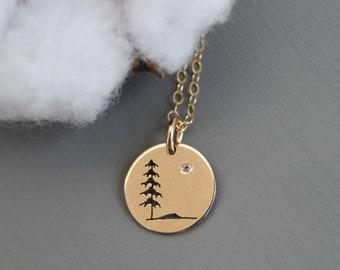 00e13a14c Tree Pendant, Silver pendant, Spruce Tree Necklace, Tree Jewelry, Canadian  Jewelry, Tree, Ebony and Sparrow, Spruce Tree, Nature Jewelry