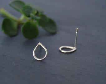 Tear Drop Earrings, Tear Drop Studs, Raindrop Studs, Simple Studs, Silver Earrings, Gold Earrings, Rose Gold Earrings