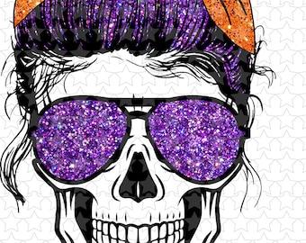 Sublimation & htv transfers  Spooky Mom skull