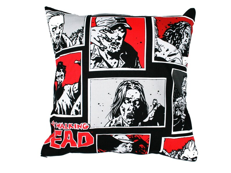 Walking Dead Cushion Cover.  Ideal geeky gift idea for lovers image 0