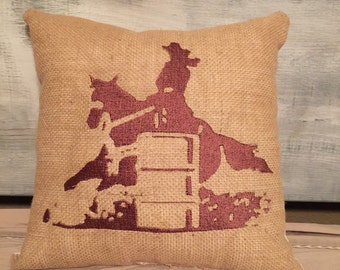 Barrel racing pillow