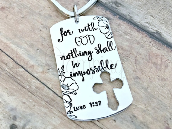 Religious Christian Hand Stamped Gift For Her Baptism
