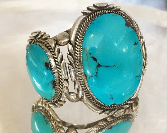 Turquoise & Sterling Silver Cuff Bracelet by Billy McRae