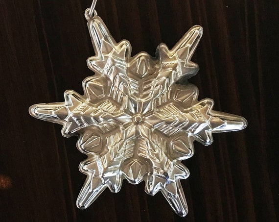 Sterling Silver Snowflake Ornament by Gorham (1972)