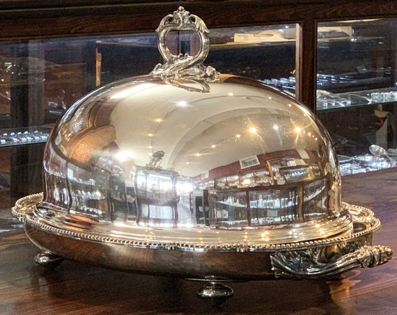English Sheffield Plated Meat Dome by Henry Wilkinson & Co.