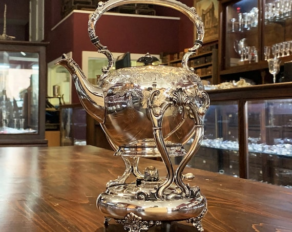 Silverplate Hot Water Kettle by Barbour Silver Co.