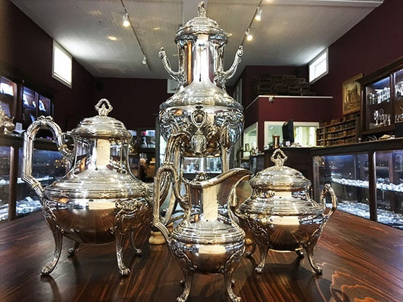 Four-Piece Sterling French Tea Set