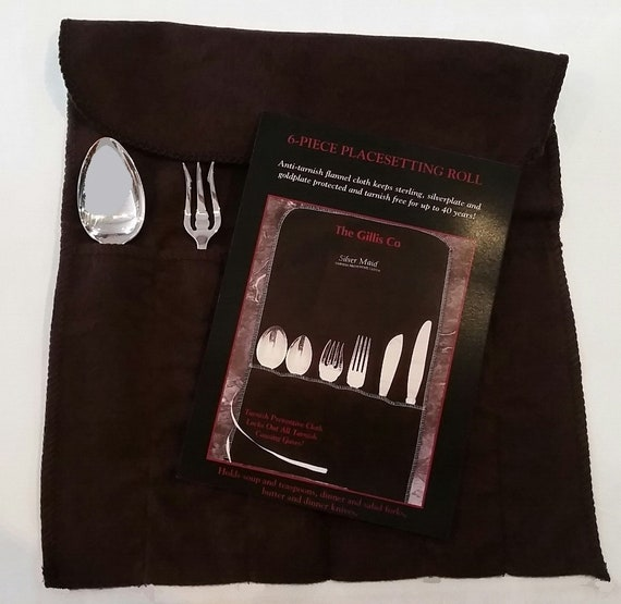 Tarnish Preventive 6-Piece Silver Place Setting Cloth