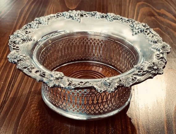 English Silver Plated Wine Coaster