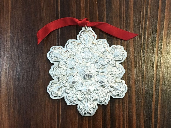 Sterling Silver Old Master Snowflake Ornament by Towle