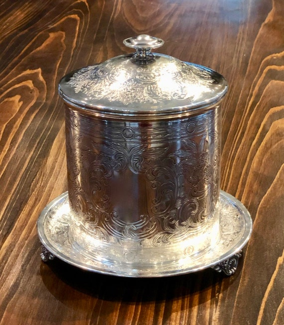 Ellis Barker Silver Plated Biscuit Barrel