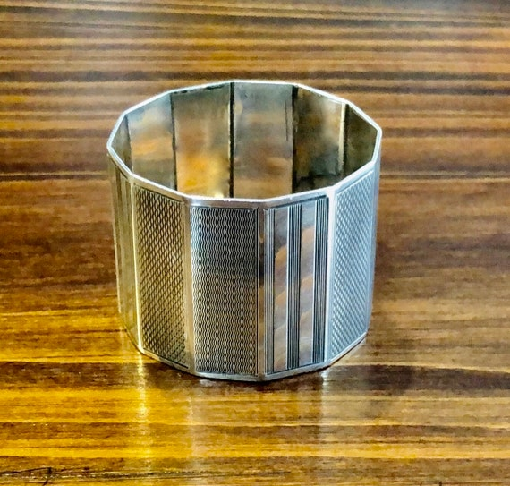 Sterling Art Deco Napkin Ring by Oldfield Ltd.