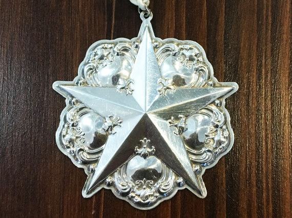 Sterling Silver Star Ornament by Gorham (2000)