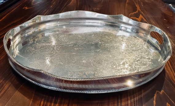 T. Land & Son Silver Plated Gallery Tray