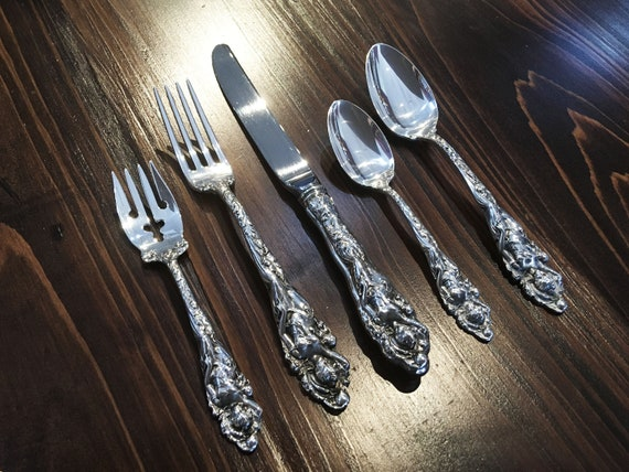 Love Disarmed by Reed Barton Complete Flatware Set with Free Book