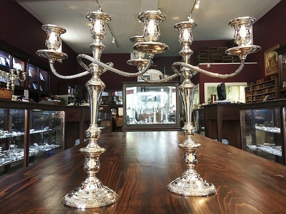 Prelude by International Silver Co. Sterling Candelabra Set