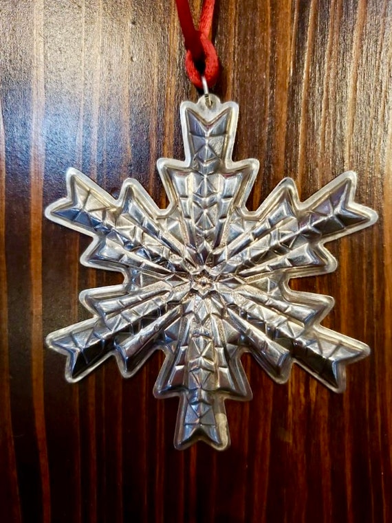 Gorham 1978 Sterling Silver Snowflake Ornament
