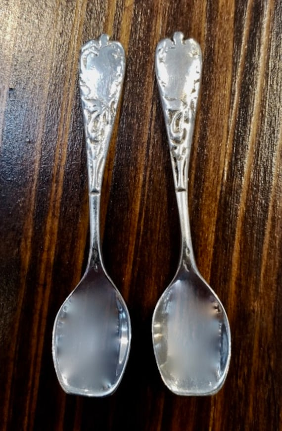 Sterling Silver Salt Spoons - Pair