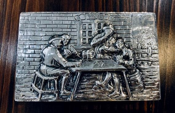 Dutch Silver Cigarette/Card Box