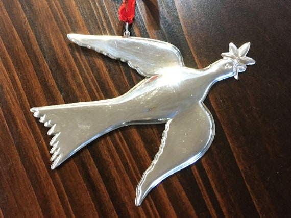 Sterling Silver Mount Vernon Dove Ornament by Gorham (1973)