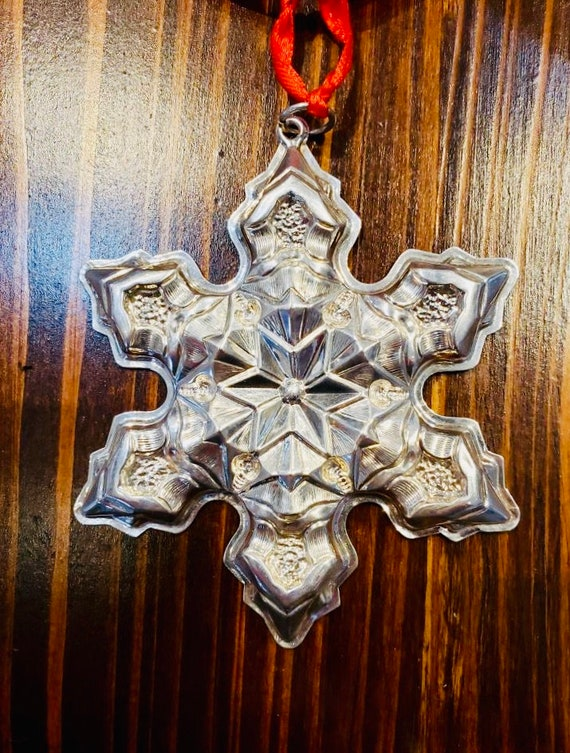 Gorham 1975 Sterling Silver Snowflake Ornament