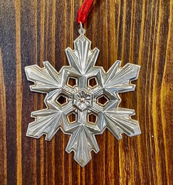 Gorham 1990 Sterling Silver Snowflake Ornament