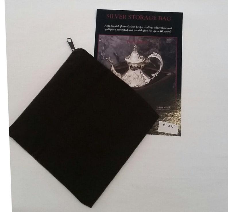 Tarnish Preventive 6x6 Zippered Storage Cloth image 0