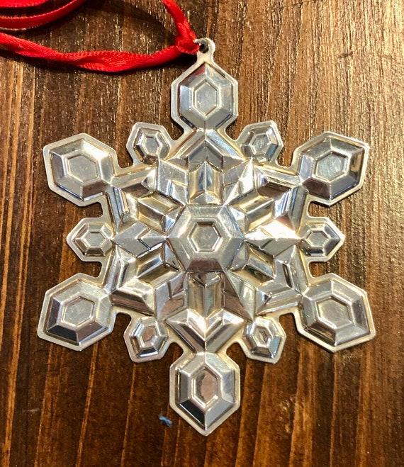 Gorham 2001 Sterling Silver Snowflake Ornament