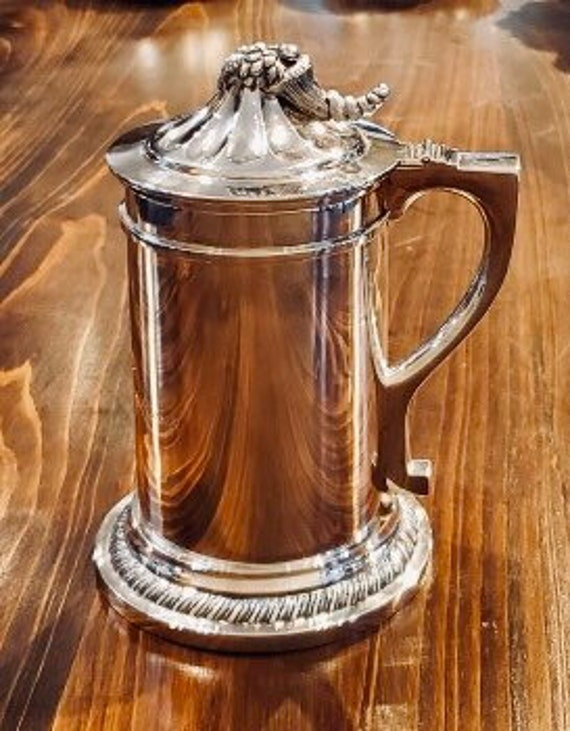 Antique 1850's Silver Tankard