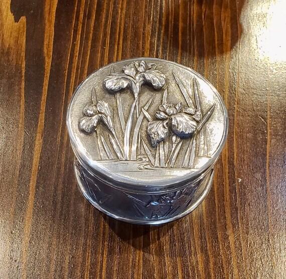 Art Nouveau Sterling Powder Box