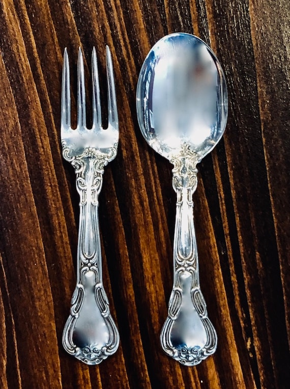 Chantilly by Gorham 2 pc. Baby Fork and Spoon Set