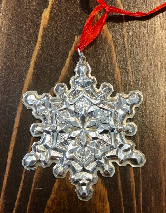 Gorham 1971 Sterling Silver Snowflake Ornament