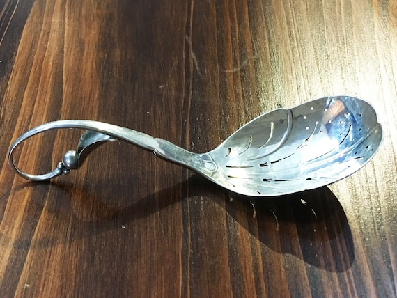 No. 21 by Georg Jensen Sterling Silver Pierced Serving Spoon