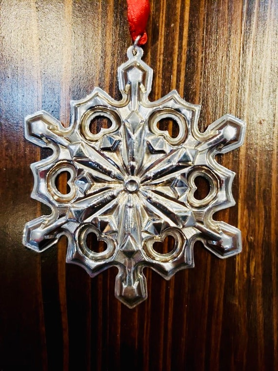 Gorham 1979 Sterling Silver Snowflake Ornament