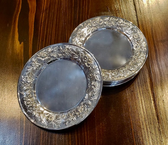 Repousse by S. Kirk & Son Sterling Bread and Butter Plates - Set of 8