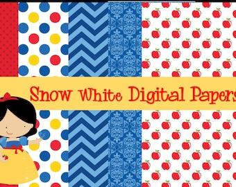 Sneeuw wit digitale papier