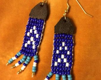 Loom beaded earrings