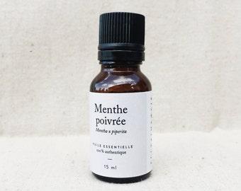 Peppermint: essential oil bottle - 15 ml