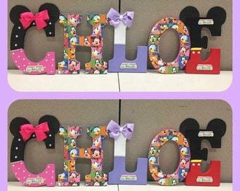 Mickey Mouse Clubhouse Wooden Letters
