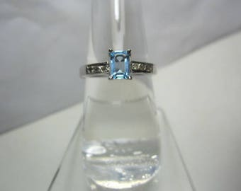 naral blue topaz and diamond ring, diamond ring,WOOW