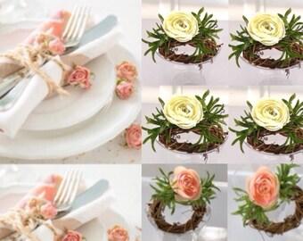 Easter napkin rings, Spring Napkin Rings - Farmhouse Napkin Ring -Farmhouse Decor - Floral Napkin Rings - Spring Napkin Rings , Napkin Rings